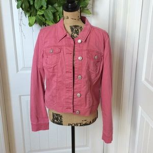 Nine West Vintage America jean jacket M dusty rose